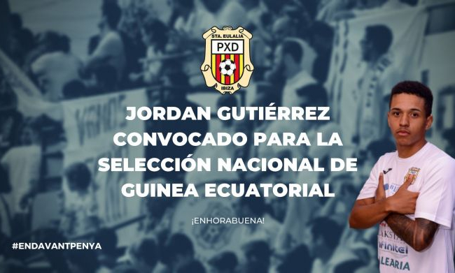 Jordan Gutiérrez convocado por la selección de Guinea Ecuatorial